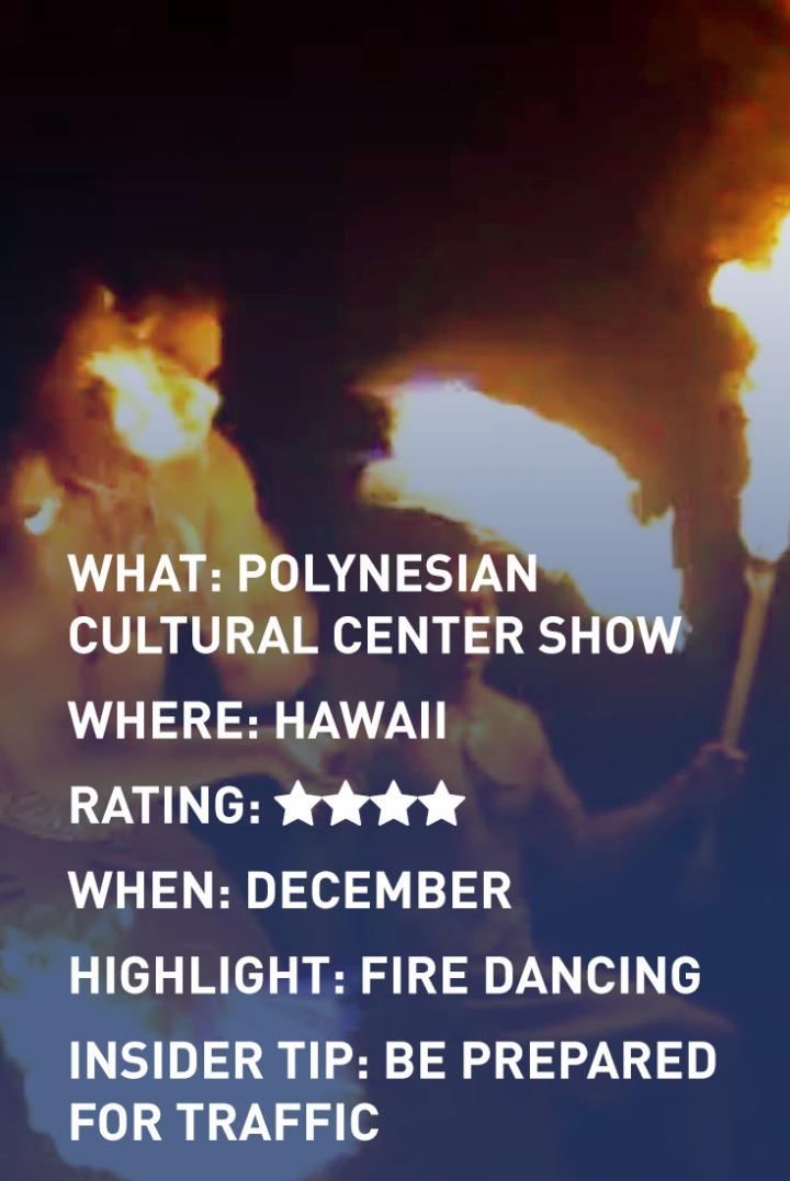 HAWAII FIRE DANCING INFOGRAPHIC
