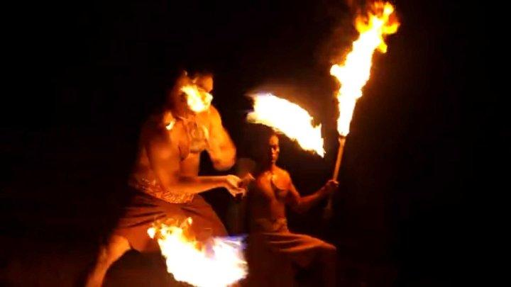 Polynesian cultural fire dance