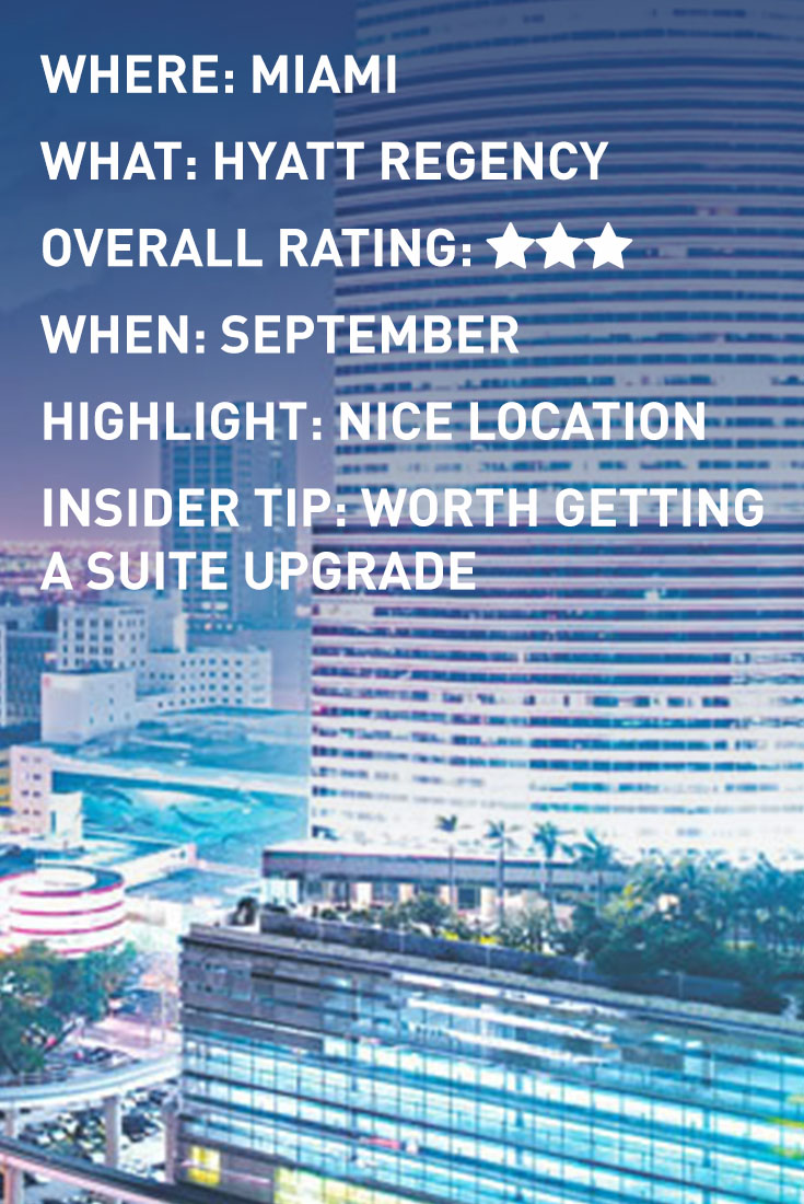 MIAMI HYATT infographic