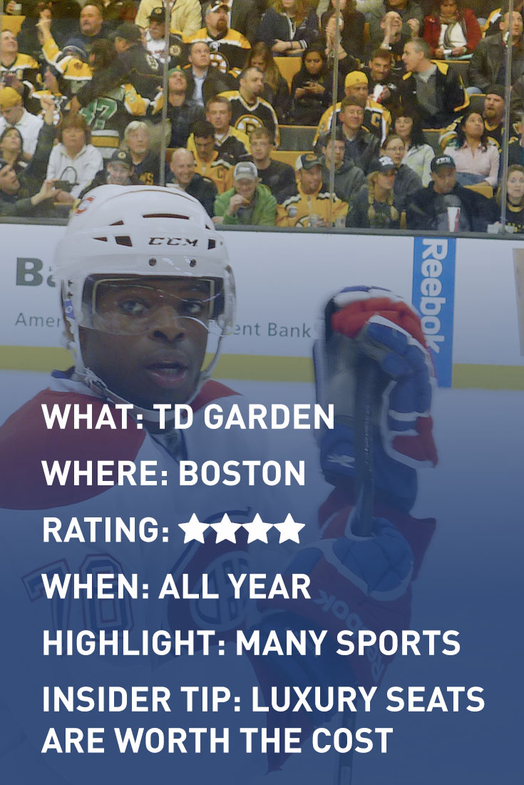BOSTON TD GARDEN infographic