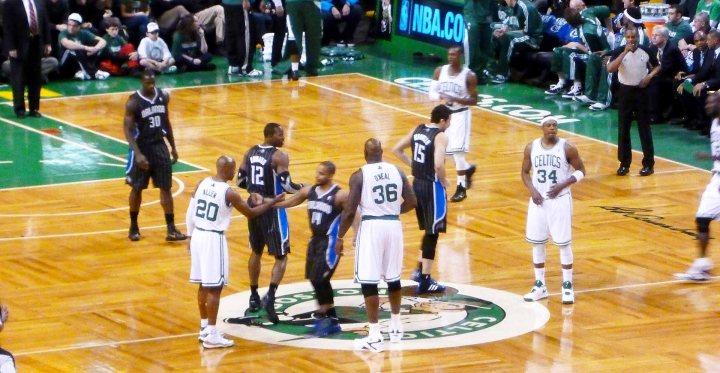 TD Garden Celtics Shaq