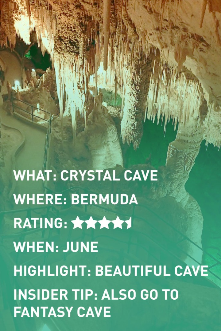bermuda CRYSTAL CAVES infographic