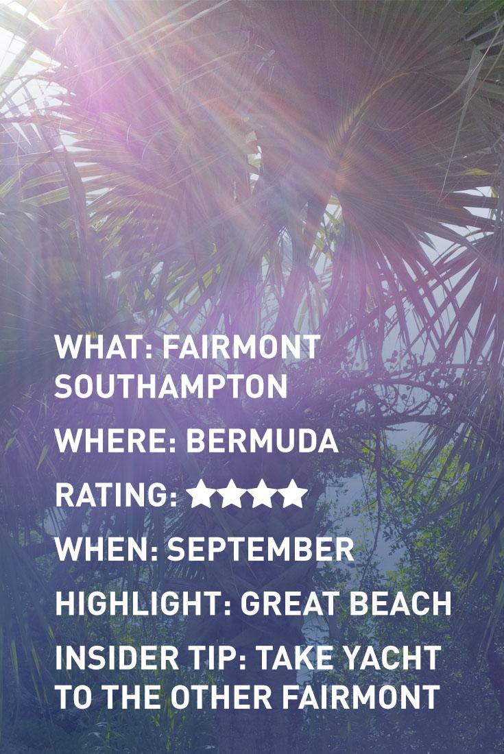 BERMUDA FAIRMONT INFOGRAPHIC