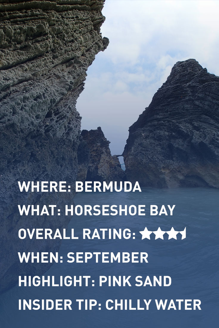 bermuda horseshoe bay infographic