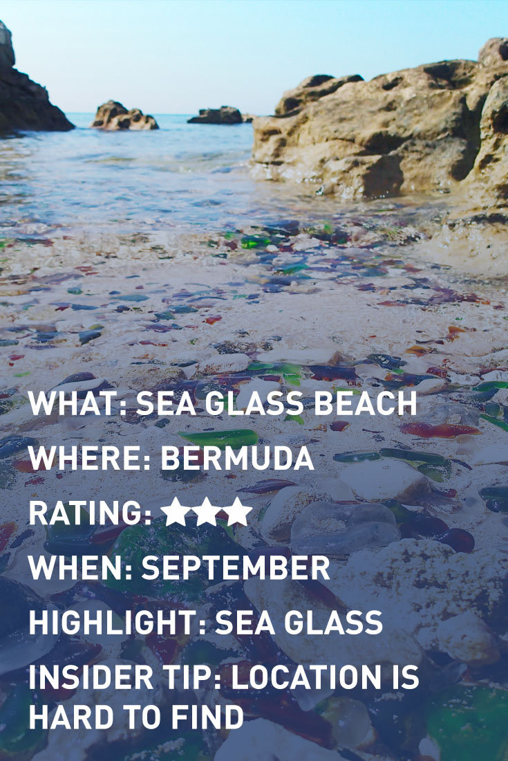 bermuda SEA GLASS infographic