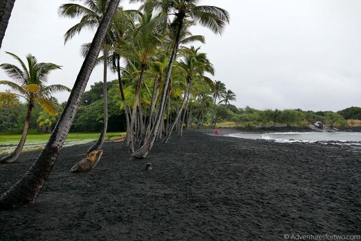 Black Sand Beach Big Island Hawaii