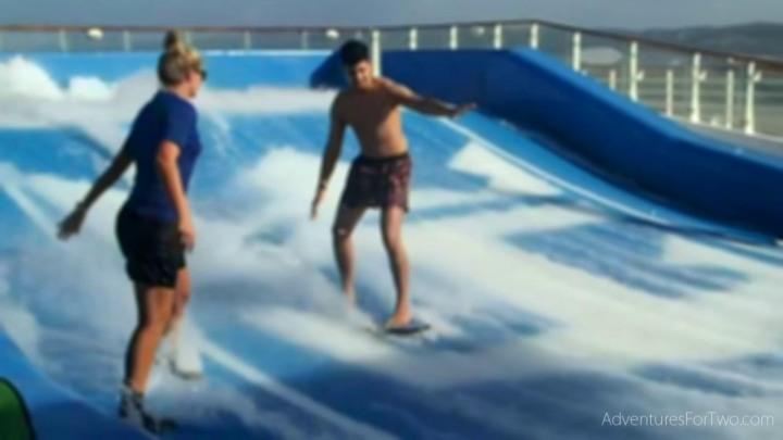 Flowrider Oasis of the Seas surfing