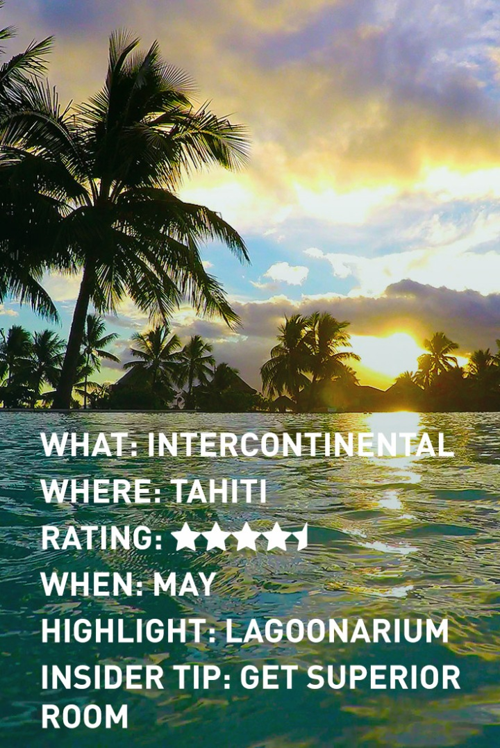 Tahiti Intercontinental INFOGRAPHIC