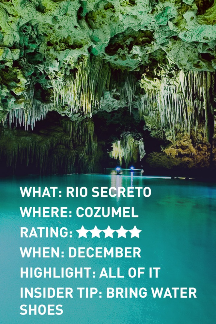 cozumel rio secreto INFOGRAPHIC